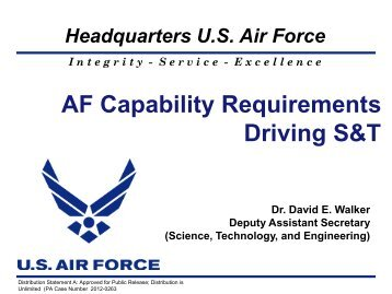 AF Capability Requirements Driving S&T - Defense Innovation ...