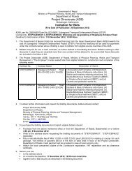 Invitation for Bids - About Department of Road