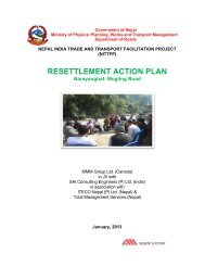 RESETTLEMENT ACTION PLAN - About Department of Road
