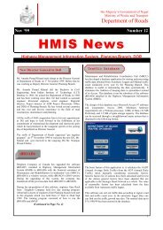 2 HMIS News - About Department of Road
