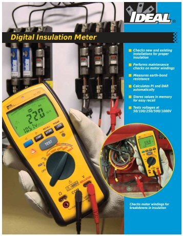 Digital Insulation Meter Brochure - Ideal Industries Inc.