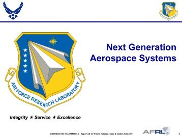 Next Generation Aerospace Systems - Defense Innovation ...