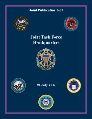 JP 3-33, Joint Task Force Headquarters - Defense Innovation ...