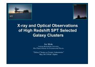 X-ray and Optical Observations of High Redshift SPT Selected ...