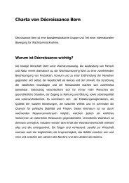 Charta von Décroissance Bern