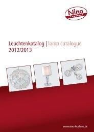 Leuchtenkatalog   lamp catalogue 2012/2013 - Nino Leuchten GmbH