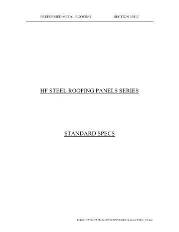 Specs - Ideal Roofing  sc 1 st  Yumpu & HF Specs.pdf - Ideal Roofing memphite.com