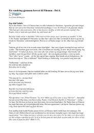 En vandring gjennom brevet til Filemon - Del 4. - Lyd i Natten