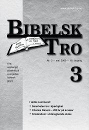 www.bibelsk-tro.no • Sannheten tro i kjærlighet ... - Lyd-i-Natten.dk