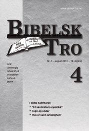 Bibelsk Tro nr.4 2010 - Shafan.dk