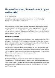 Homoseksualitet, Romerbrevet 1 og en nations død - Lyd-i-Natten.dk