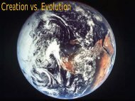 Creation vs. Evolution (Class Notes from John Morris)