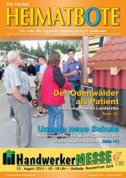 Der Odenwälder als Patient Unsere neue Schule - frther-heimatbote ...