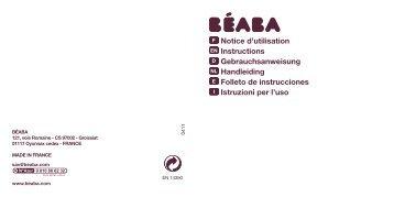 instrucciones - Beaba