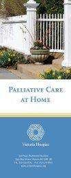 Palliative Care at Home - Victoria Hospice