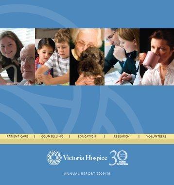 ANNUAL REPORT 2009/10 - Victoria Hospice