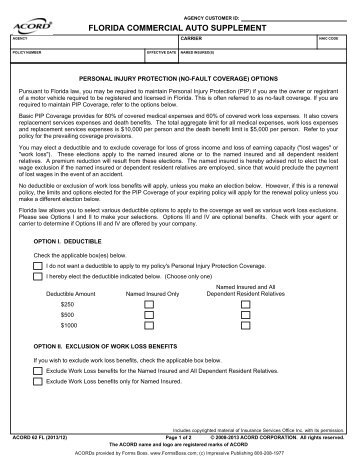 Acord Cancellation Form. 28 How Indemnity Clauses, Additional ...