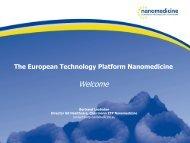 Link to presentation - ETP Nanomedicine