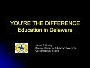 Founder's Values Presentation - Caesar Rodney Institute