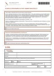 Oleskelulupahakemus au pair - Maahanmuuttovirasto