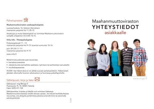 YHTEYSTIEDOT - Maahanmuuttovirasto