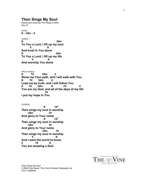 Then Sings My Soul - The Vine Band