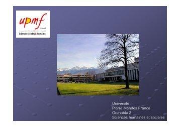 Université Pierre Mendès France Grenoble 2 Sciences humaines et ...