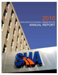 2010 Annual Report - Maryland State Highway Administration