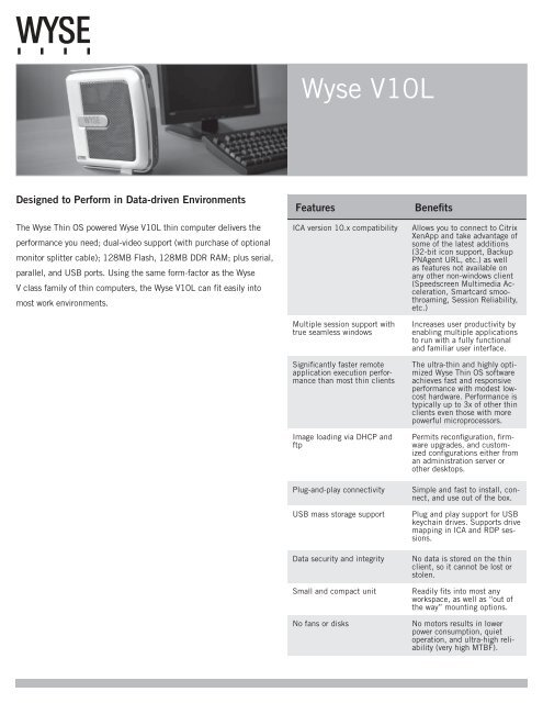 Wyse V10L Thin Client - Wyse Store