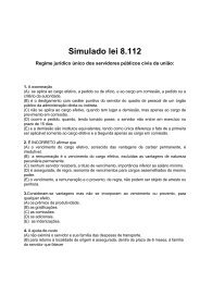 Simulado lei 8112 VR - Guiadoconcursopublico.com.br