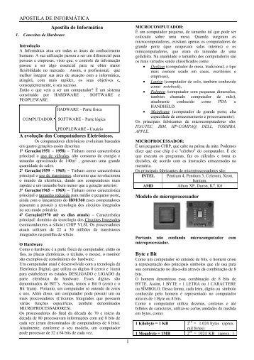 Apostila de Informática - Guiadoconcursopublico.com.br