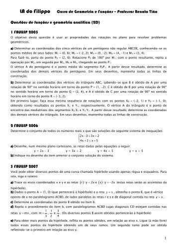 Geometria analítica 2d e 3d