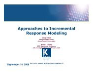 Approaches to Incremental Response Modeling