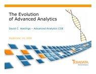 The Evolution of Advanced Analytics