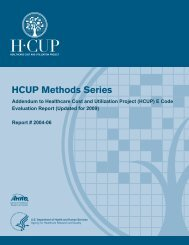 HCUP Methods Series - Agency for Healthcare Research and Quality
