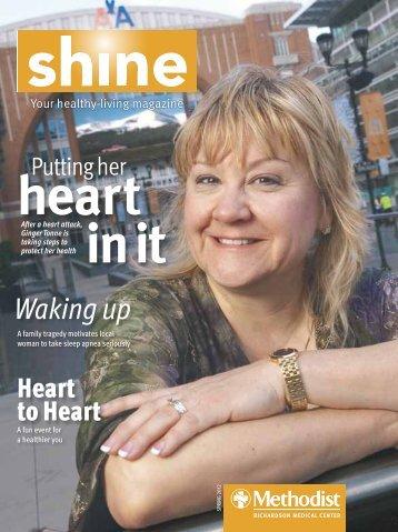 Richardson Shine magazine – Spring 2012 - Methodist Health System