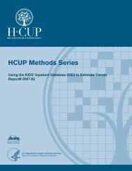 Using the KIDS' Inpatient Database (KID) to Estimate Trends - HCUP