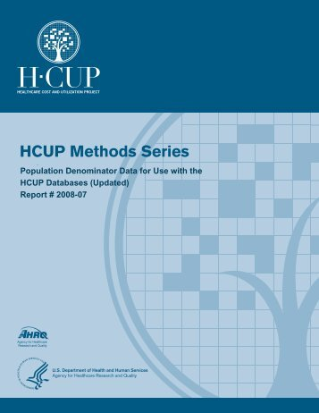 Population Denominator Data for Use with the HCUP Databases
