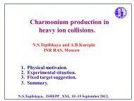 Charmonium production in heavy ion collisions.