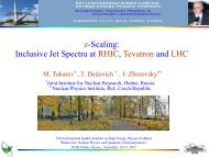 Z-scaling: inclusive jet spectra at RHIC, TEVATRON and LHC - JINR