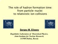 from particles-nuclei to relativistic ion collisions