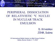 Peripheral Dissociation of Relativistic 9C Nuclei in Nuclear ... - JINR