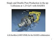 Single and Double Pion Production in the np-Collisions at ... - JINR