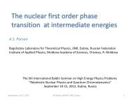 The nuclear first order phase transition at intermediate energies - JINR