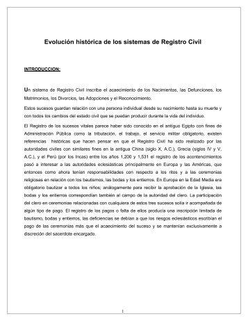 EVOLUCION - REGISTRO CIVIL - Registro Nacional de las Personas