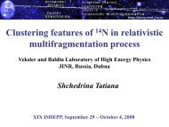 Clustering features of 14N in relativistic multifragmentation ... - JINR