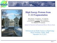 High energy protons from C-12 fragmentation - JINR