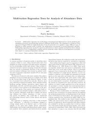 Multivariate Regression Trees for Analysis of Abundance Data
