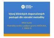 Vývoj klinických doporučených postupů dle národní metodiky