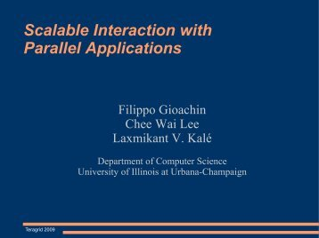 Scalable Interaction with Parallel Applications